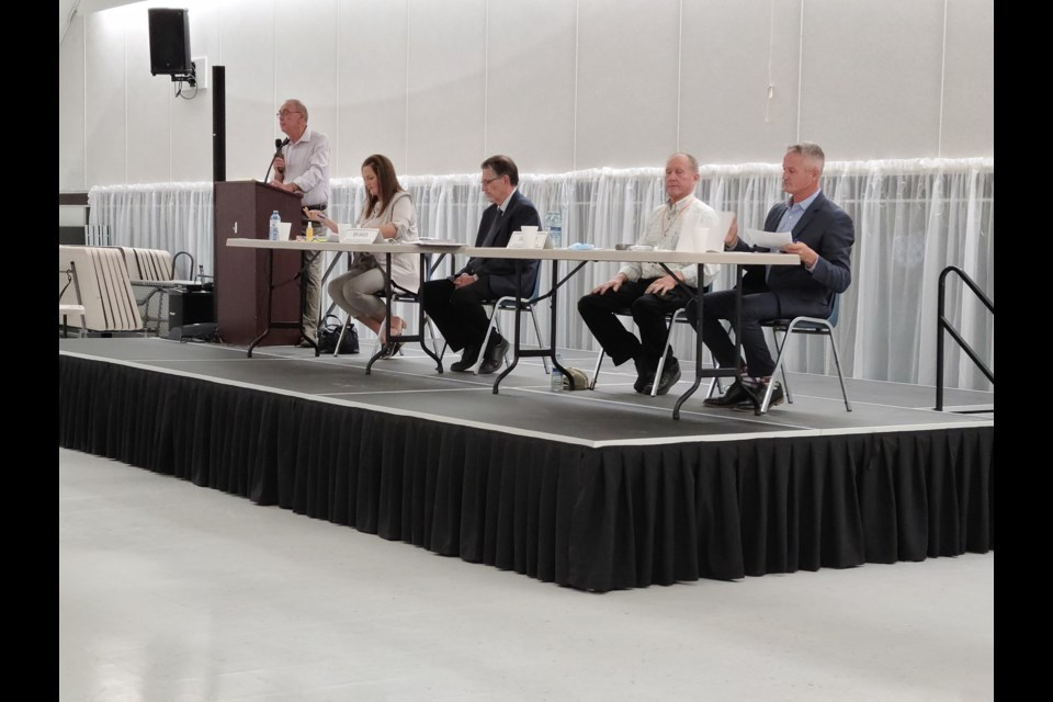 Four federal candidates were present at the all candidate's forum held in Unity Sept. 9.