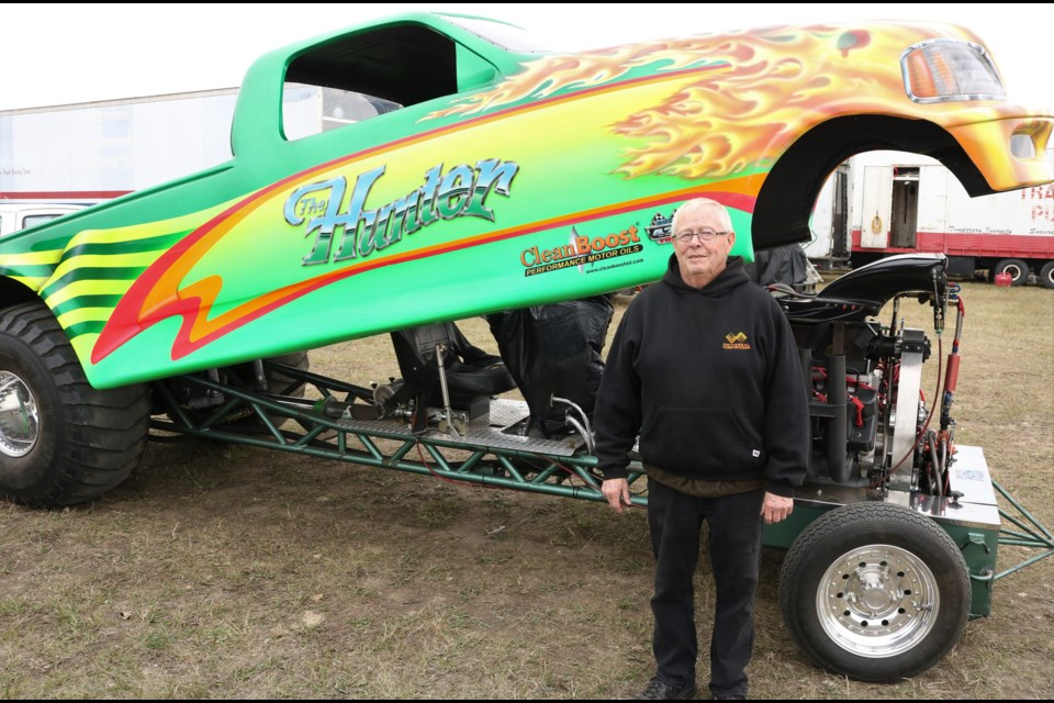 Adrian Hunter and his pulling truck.