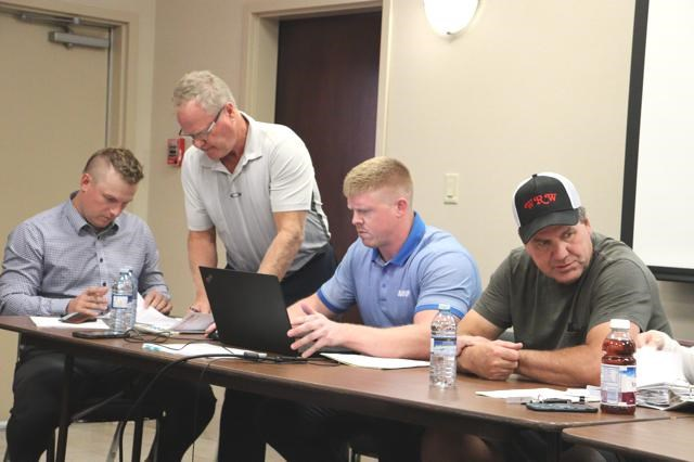 Board members for the Richardson Pioneer Weyburn Red Wings gathered for the annual general meeting