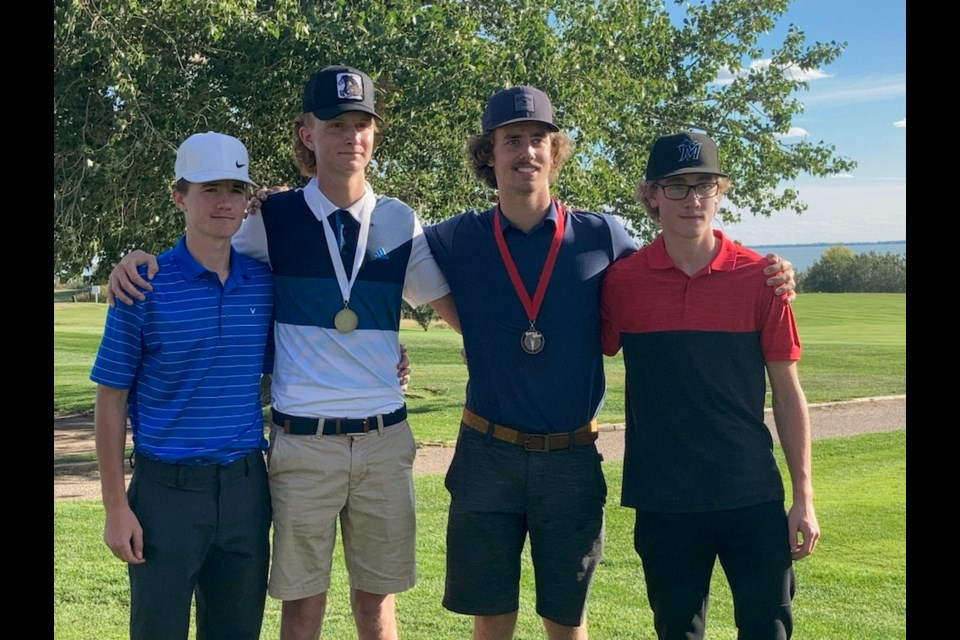 UCHS boy's golf team that included Thomas Snell, Denim O'Donnell, Hunter Sperle and Layne Parker also competed at Sept. 14 District Golf championship.