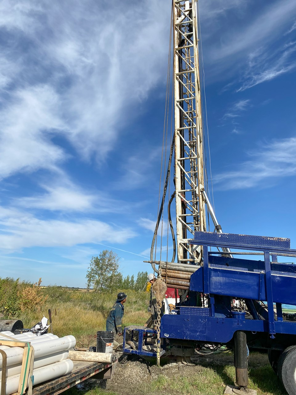 Well drilling at Carlyle Golf Course
