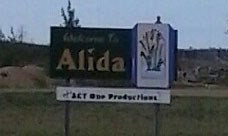 Welcome sign Alida