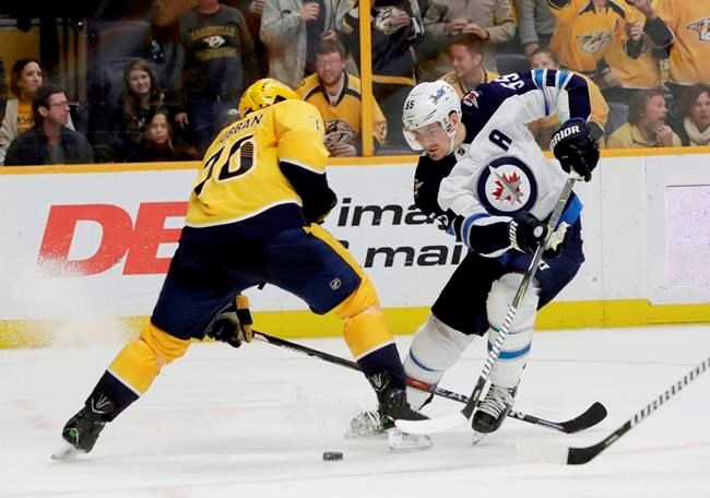 Jets Top Line Centre Mark Scheifele Out 6 8 Weeks With Upper Body Injury Barrietoday Com