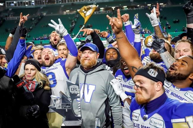 North Bay's Mike O'Shea has coached the Winnipeg Blue Bombers to the Grey Cup. CP