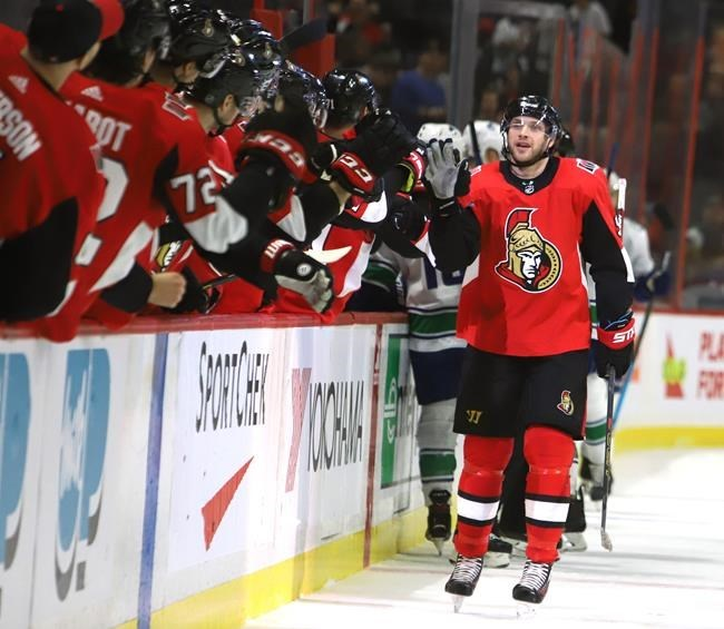 Senators' Bobby Ryan records hat trick in second game back