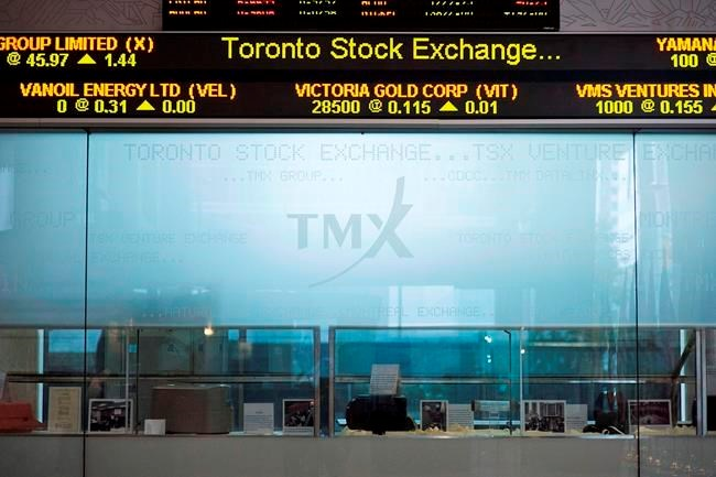 North American stock markets open trading week higher even as oil plunges