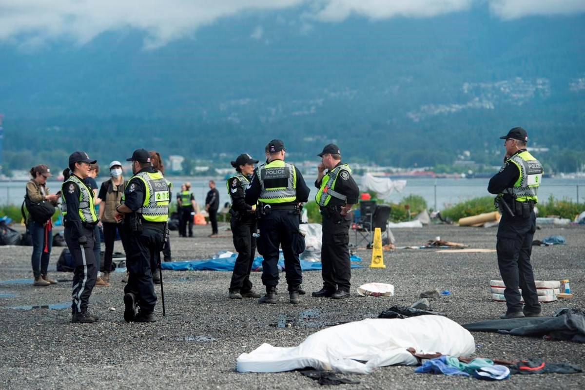 Many arrests as Vancouver police enforce injunction against homeless camp