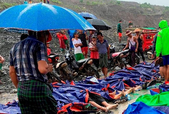 Landslide at Myanmar jade mine kills at least 113 people ...