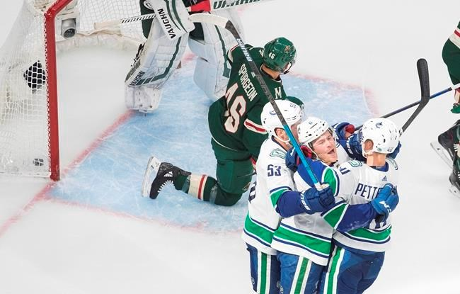 Canucks Beat Wild 3 0 Take Series Lead In Penalty Filled Nhl Qualifying Game Elliotlaketoday Com