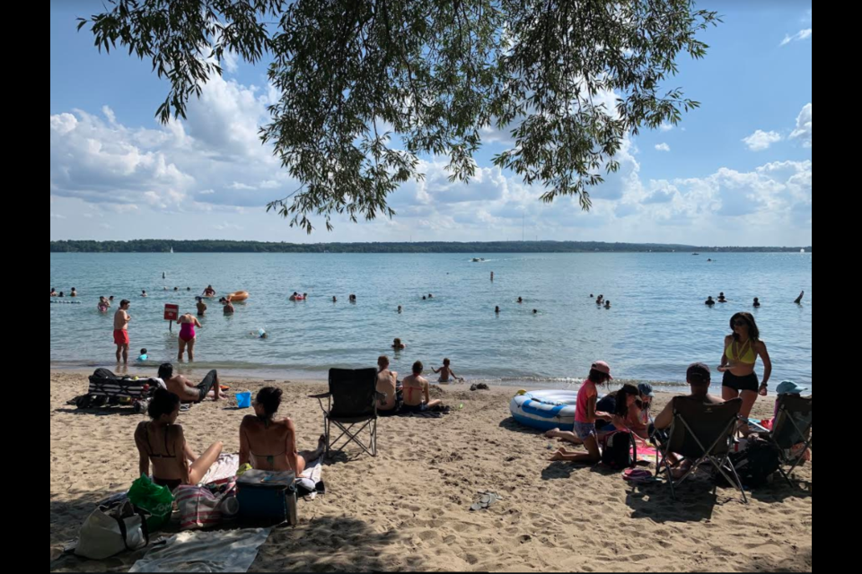 Johnson's Beach in Barrie is shown in a file photo. Raymond Bowe/BarrieToday