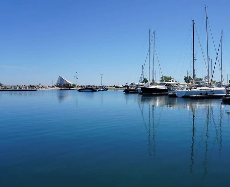 USED Thornbury harbour on a calm day
