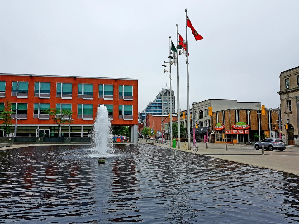 Overcast at Kitchener City Hall