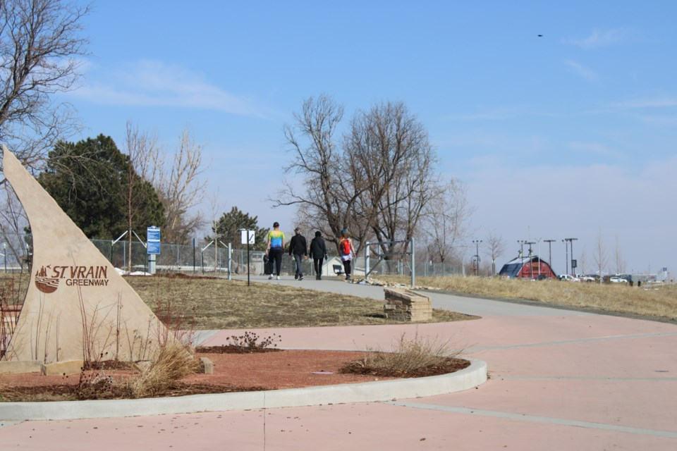 USED 3.20.21 good morning Longmonters enjoying the spring weather with a walk along the St. Vrain Greenway