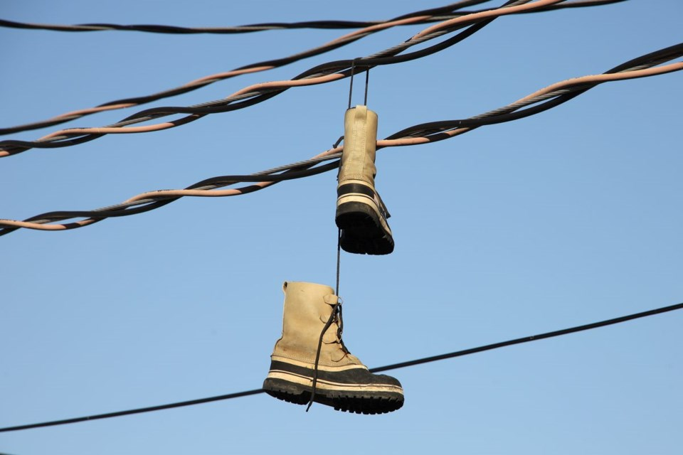 USED 2020 06 22 boots on hydro lines GK