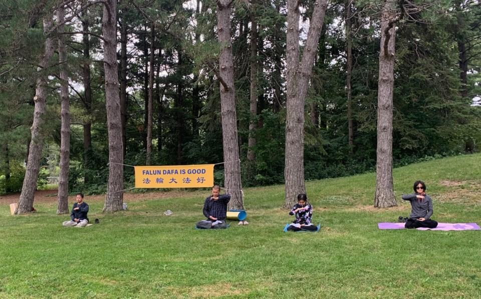 USED 2020 09 03 Falun Dafa at Fairy Lake SC 2