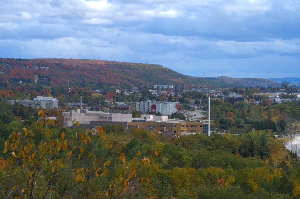 USED 2020-10-12goodmorningnorthbaybct  6  View of the hospital and Canadore College. North Bay. Courtesy of Les Couchi