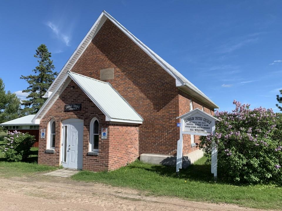 USED 2020-6-22goodmorningnorthbaybct 3 Chisholm United Church, built 1914.  Photo by Brenda Turl for BayToday.