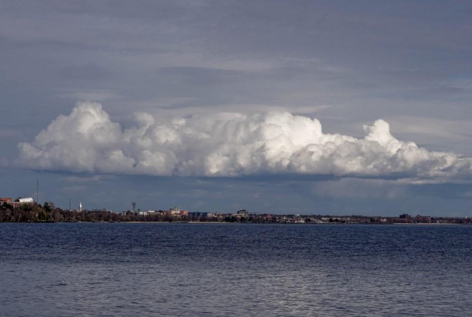USED 2021-5-10goodmorningnorthbaybct  2 Clouds over Lake Nipissing. North Bay. Courtesy of Arif A. Majeed.