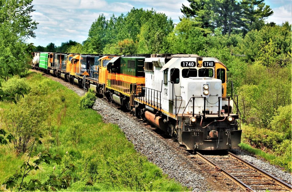 USED 2021-6-22goodmorningnorthbaybct  2 ONR train arriving in North Bay. Submitted by Kyle Jodouin.