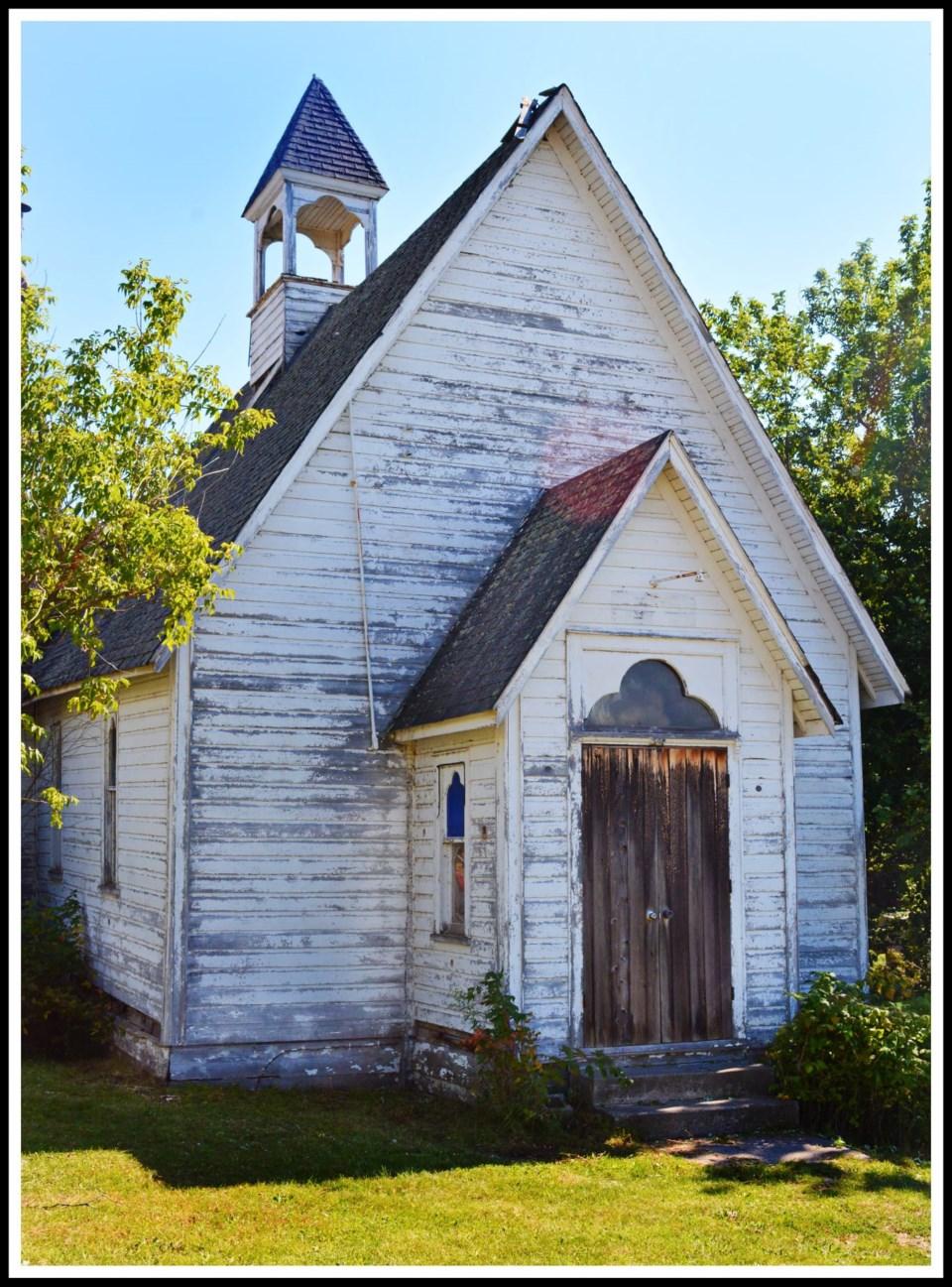 USED 2021-9-14goodmorningnorthbaybct  4 Abandoned church. Cache Bay. Courtesy of Zeke Johnson.