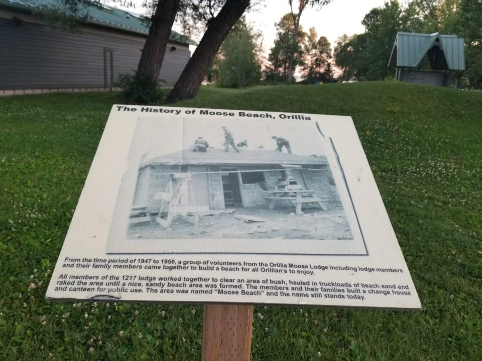USED gm history plaque at moose beach joella