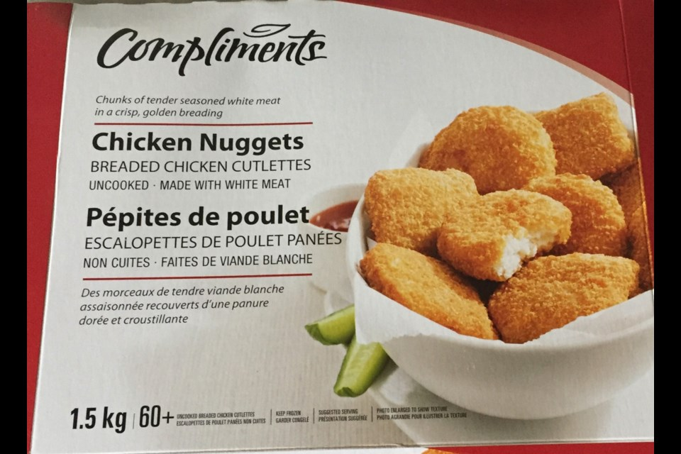 Feb. 27, 2019 recall of Compliments Chicken nuggets