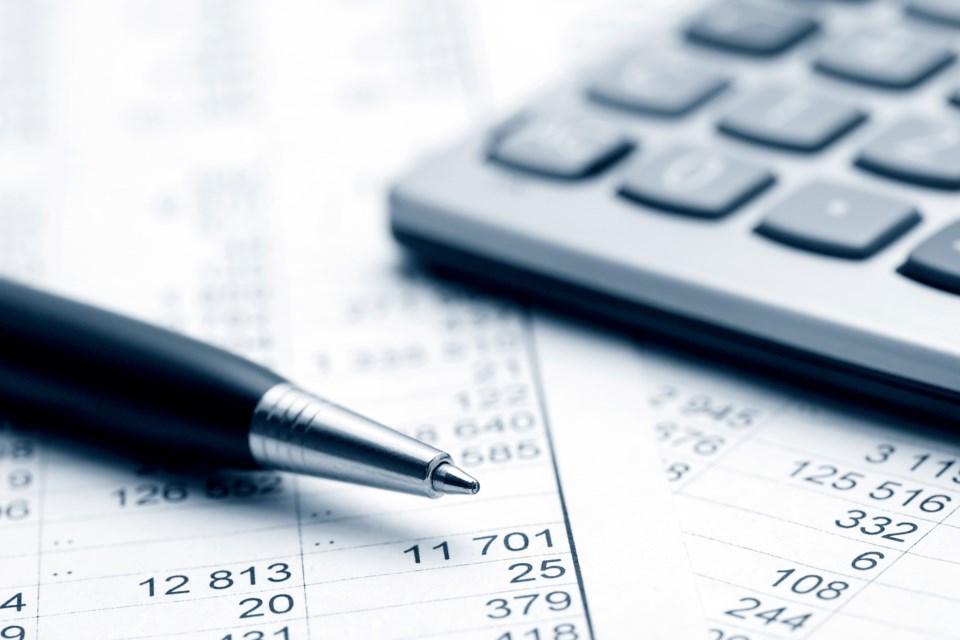 calculator taxes accounting stock