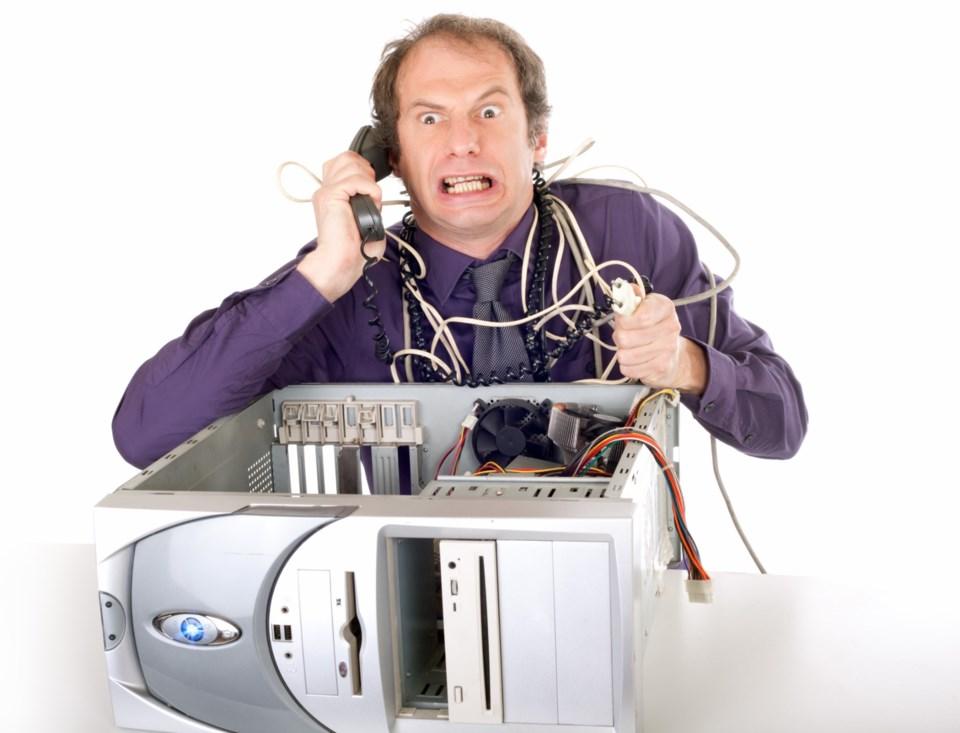 computer broken stock