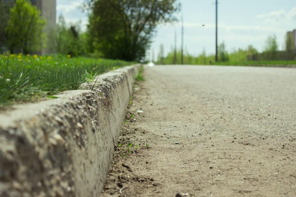 curb sidewalk road street