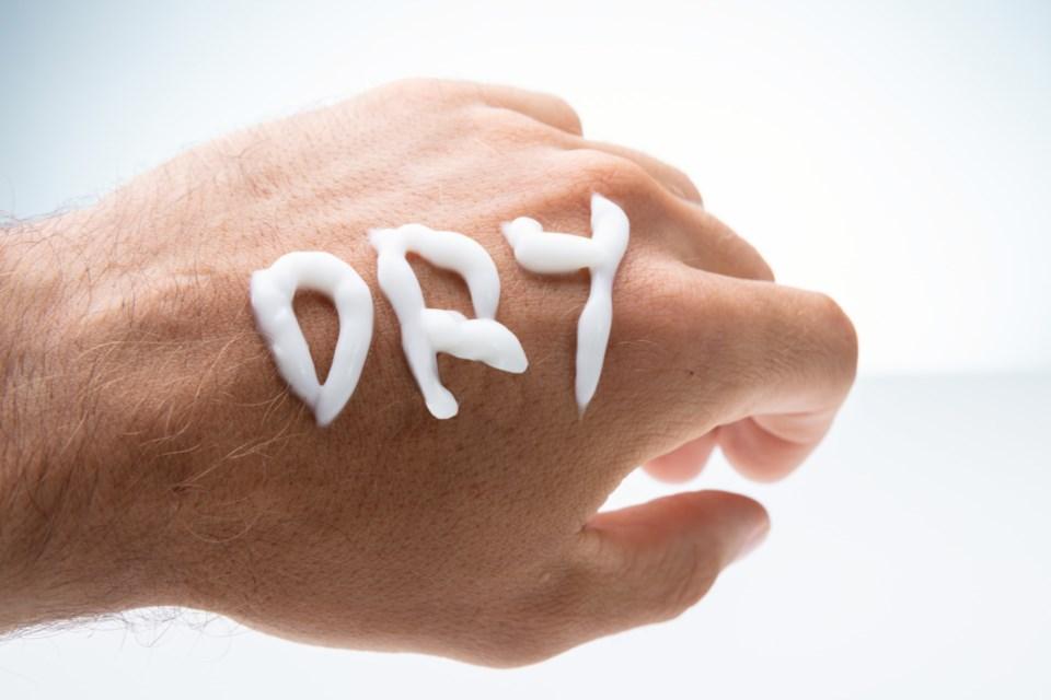 dry skin stock