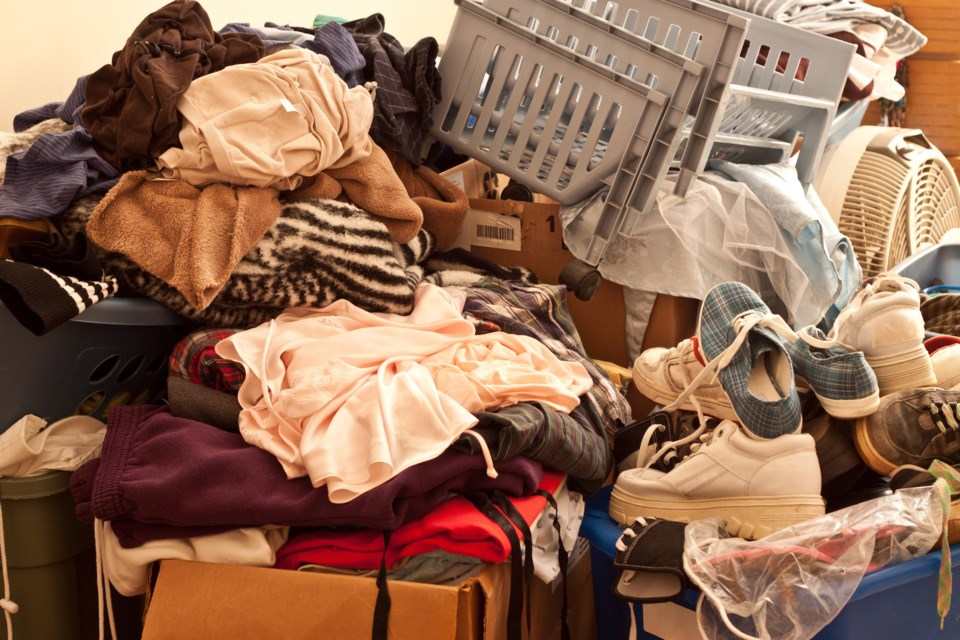 hoarding messy junk stock