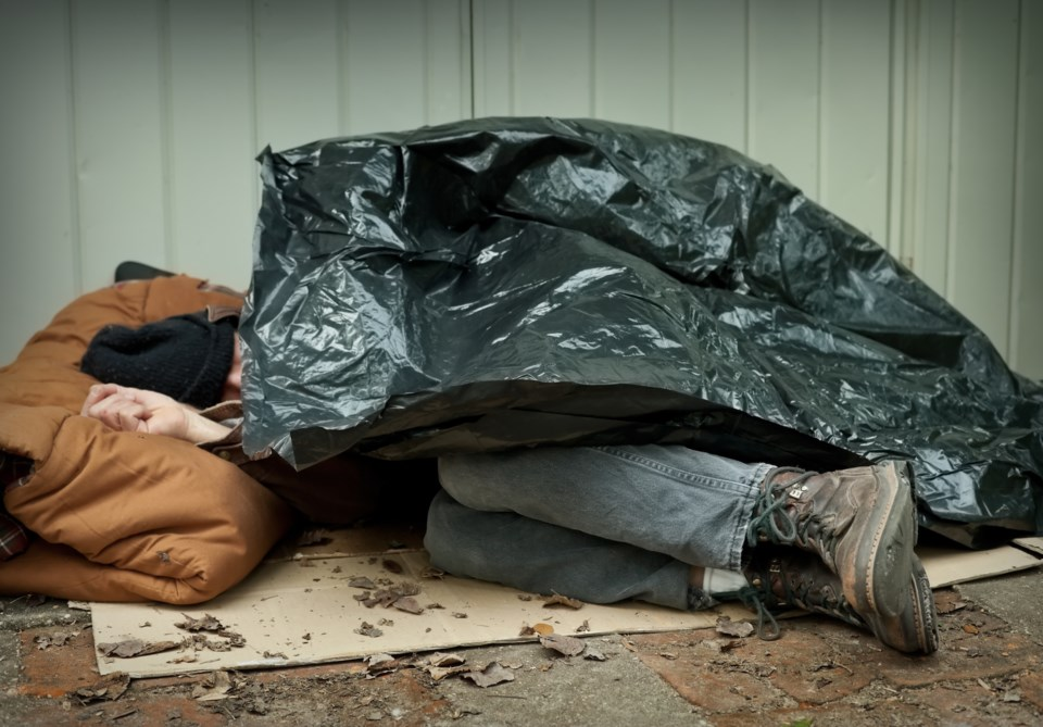 homeless sleeping on street