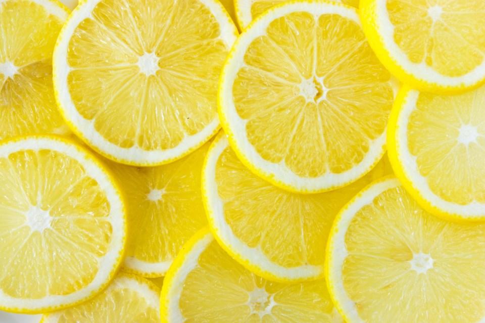 lemon slices stock