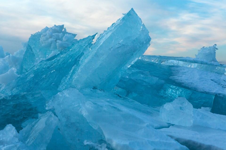 Melting Lake Ice