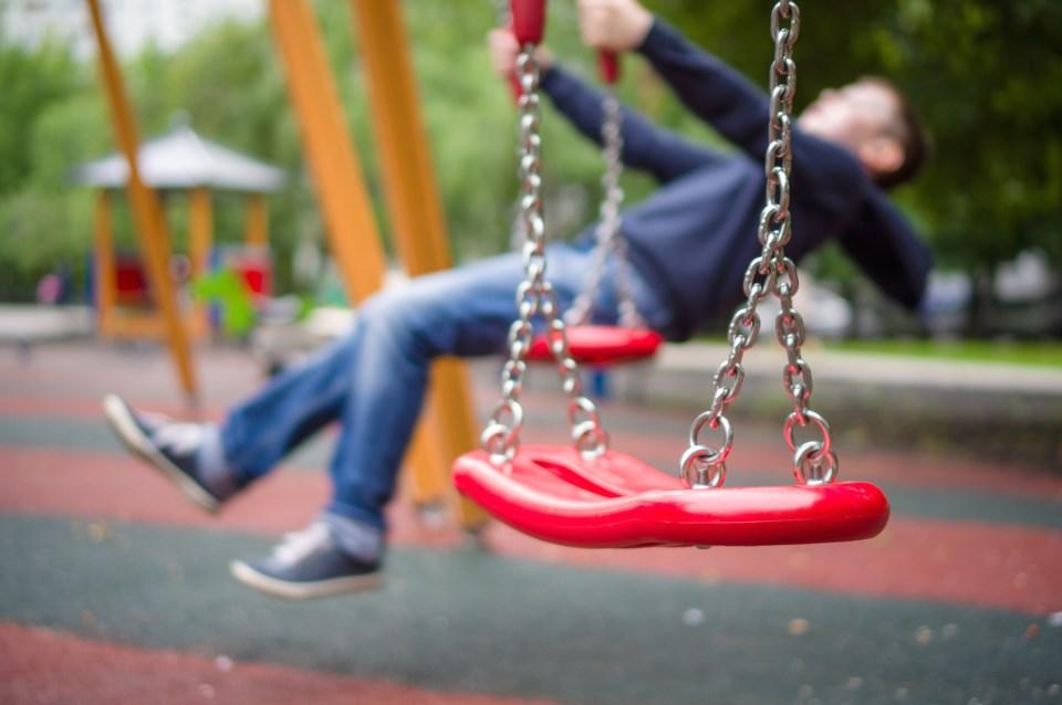 Playground swing shutterstock