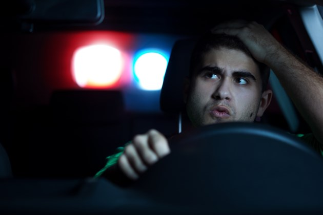 Police Stop male driver