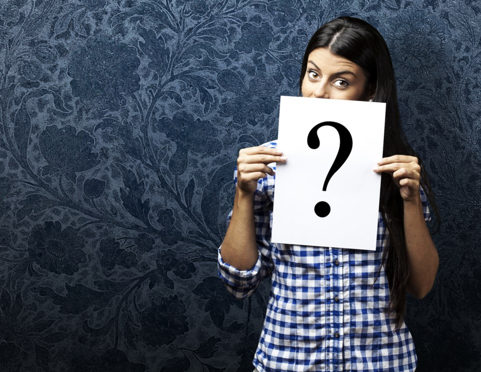 question woman stock