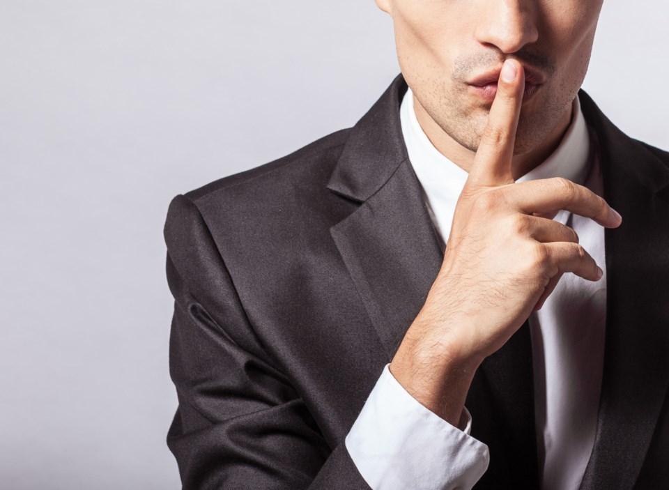 shush secret quiet stock