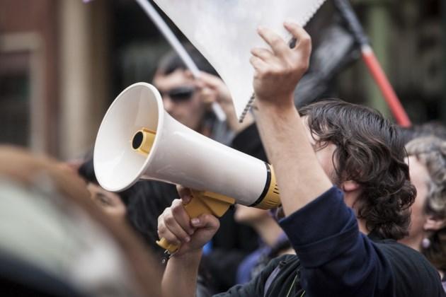 strike picket labour union stock