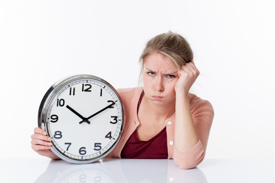 time clock frustrated stock