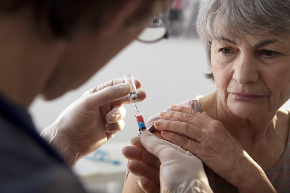 vaccine needle senior