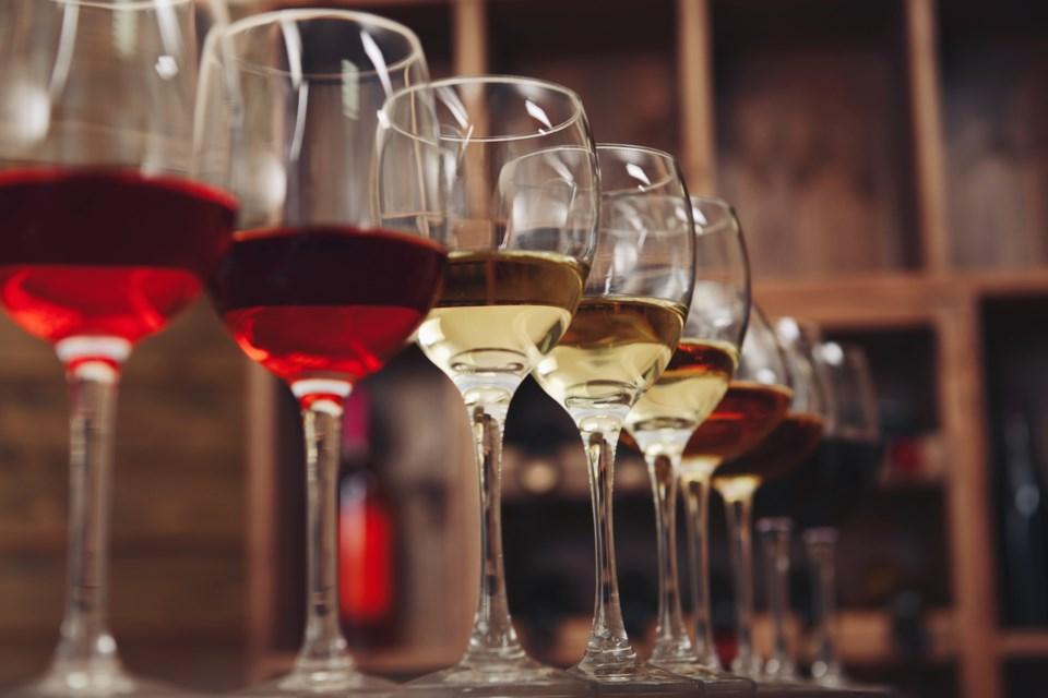 wine glasses shutterstock
