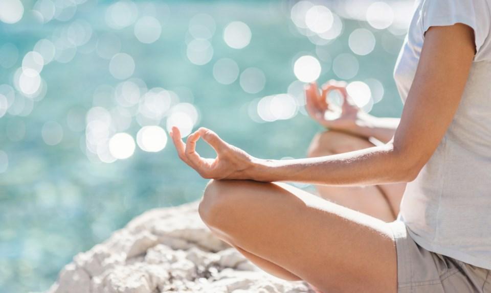 yoga pose stock