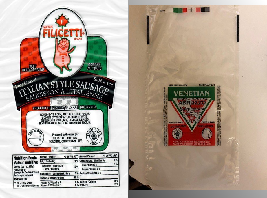 Some dry sausages recalled because of possible Salmonella contamination