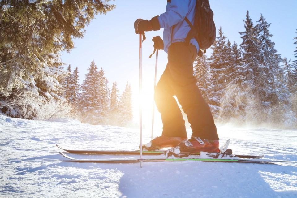 skiing downhill alpine