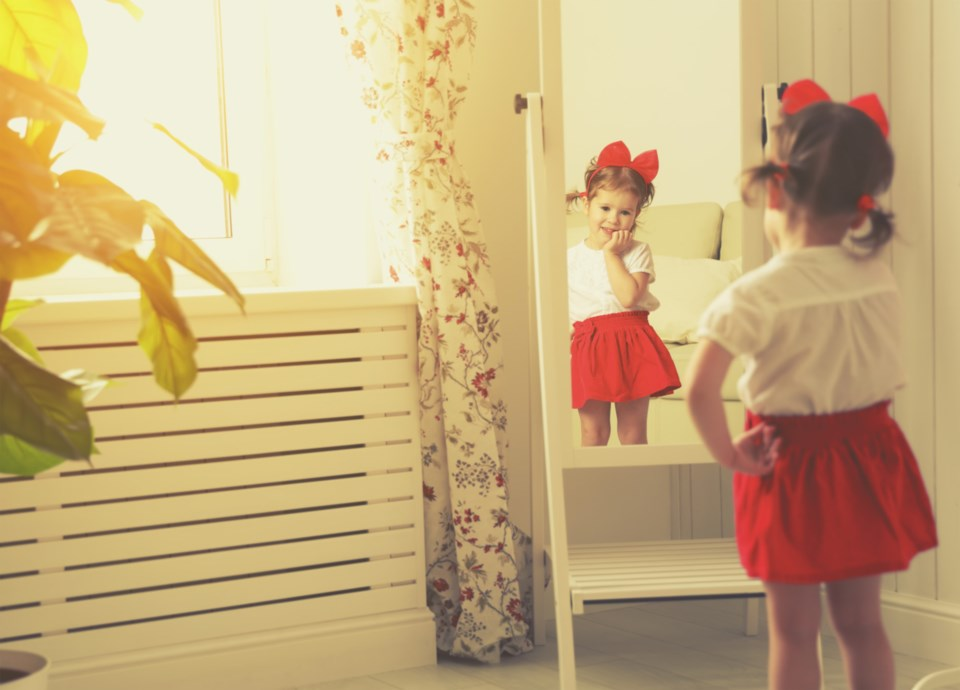 child and mirror