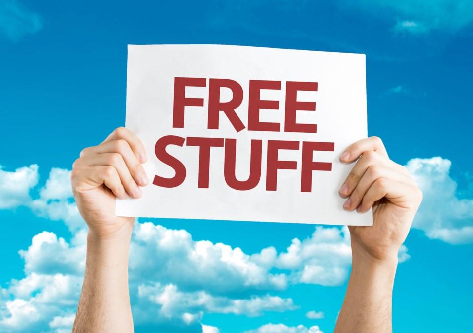 Free Stuff Blue Shutterstock