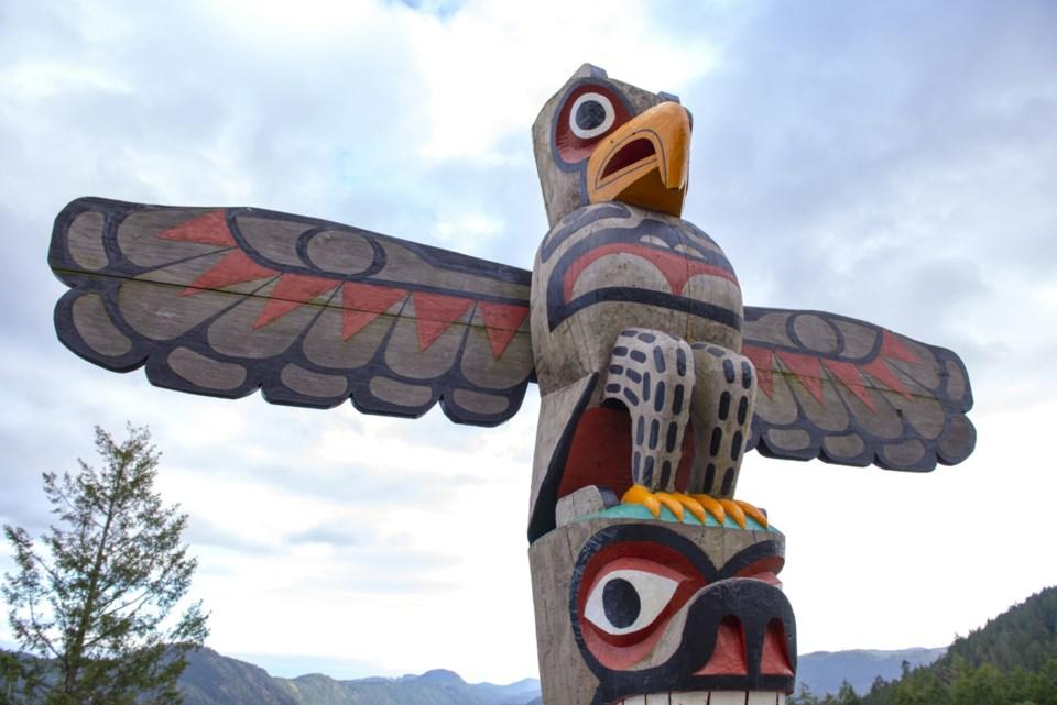 Indigenous totem pole