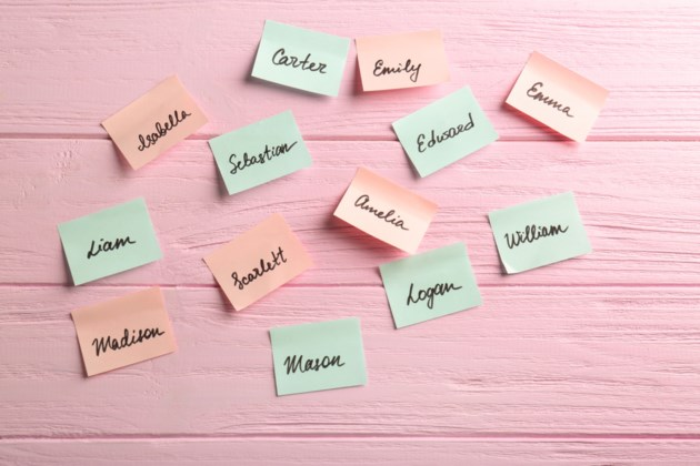 names post it notes