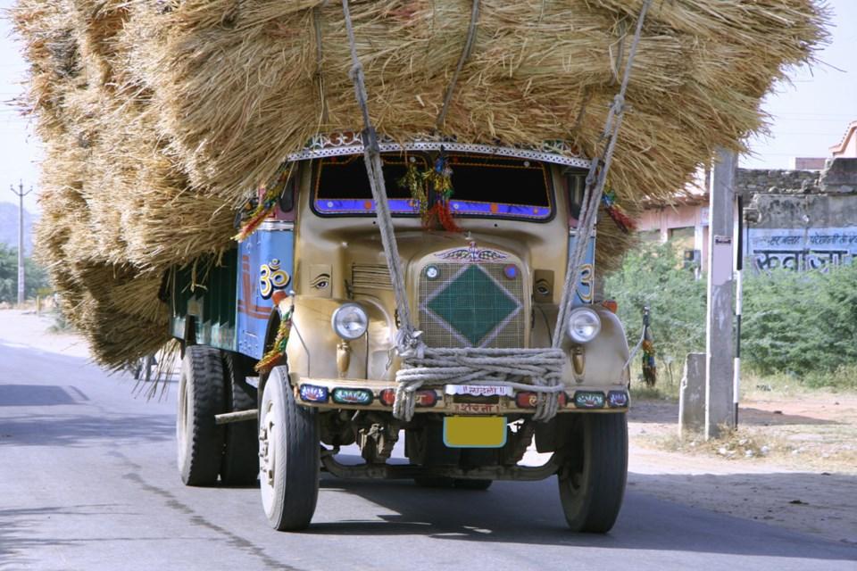 overloaded truck stock